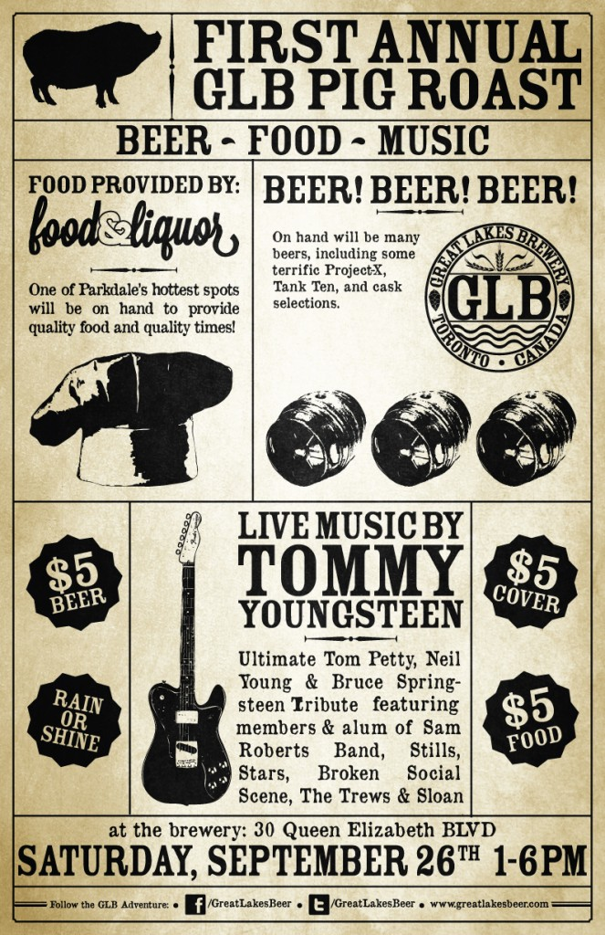 1st Annual GLB Pig & Corn Roast - Great Lakes Brewery